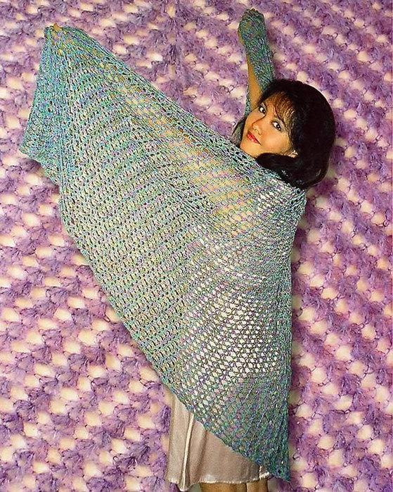 Fiber Trends Top-Down, Mock Faroese Lace Shawl (knit or crochet)