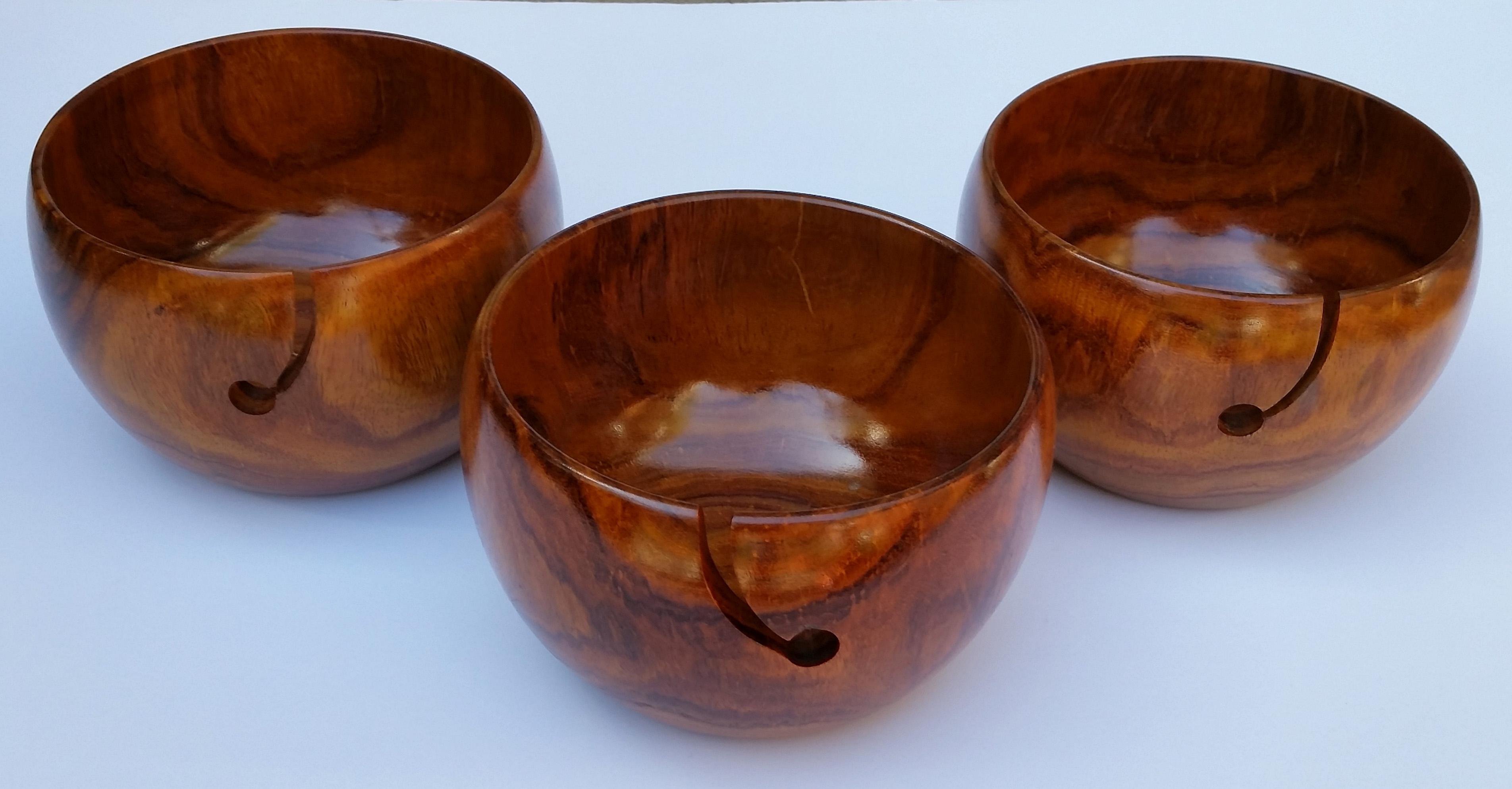 Knitting Bowls Wood : Wooden yarn bowls