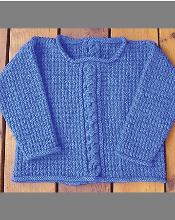 Mistake Stitch Rib Sweater | FaveCrafts.com