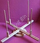 Hand Crafted Table-Top Yarn Swift, Small Base