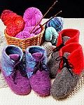 Fiber Trends Felt Boot Slippers