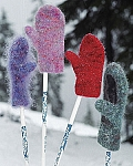 Fiber Trends Snow Country Felt Mittens
