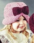 Fiber Trends The Classy Bows Knit Hat (adult or child)