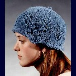 Fiber Trends Lace Cap With Knit Flower