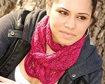 Fiber Trends Climbing Roses Infinity Scarf