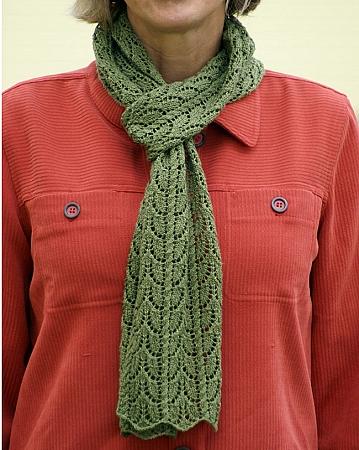 Big Sky Knitting Designs Leaf Lace Scarf