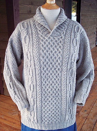 Big Sky Knitting Designs Cozy Shawl Collar Pullover