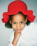 Fiber Trends Ruffled Felt Hat (toddler to adult)