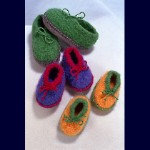 Fiber Trends Crocheted Felt Slippers