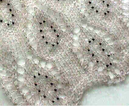 Knitting Stitches With Beads : HeartStrings Beaded Lace Scarf