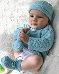 Naturally Infant's Jacket, Hat, and Bootees