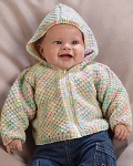 Naturally Textured Baby Jacket with Hood