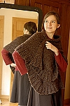 Kate Jackson Knits November Ruffle Wrap