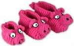 PolarKnit Piggy Slippers Kit