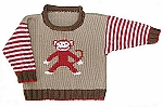 Roo Designs Monkey Pullover