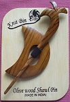 Olive Wood Shawl Pins