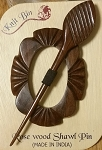 Carved Shawl Pins, Rosewood