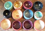 Hand Made Pottery Yarn Bowls