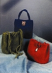 Triangle Felted Handbags by Two Old Bags