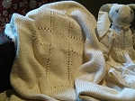 Tree Knitter Designs Lenten Rose Christening Blanket