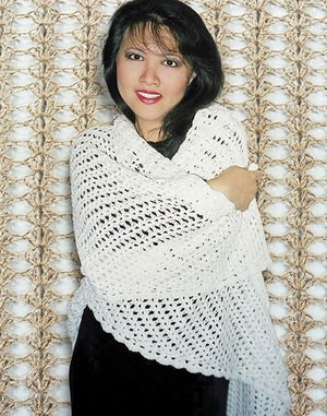 Fiber Trends Easy Crocheted Triangle Lace Shawl