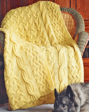 Fiber Trends Reversibly Cabled Afghan