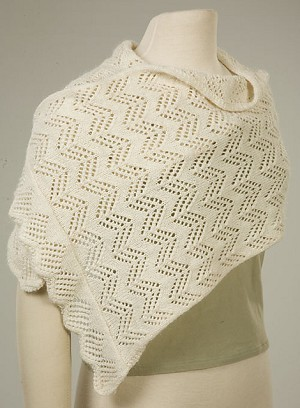 Y2Knit Sterling Lace Shawl