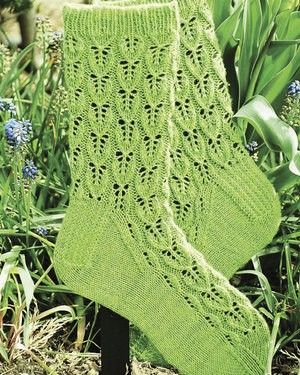 Fiber Trends Leaf Lace Socks
