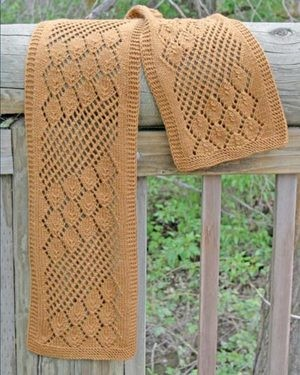 Fiber Trends Streaming Leaves Lace Scarf