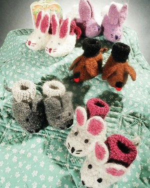 Fiber Trends Animal Friends Felt Booties
