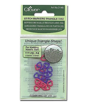 Clover Triangle Stitch Markers, 4 Sizes