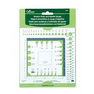 Clover Swatch Ruler & Needle Gauge