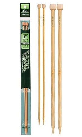 "Clover 13""-14"" Bamboo Single Point Needles"
