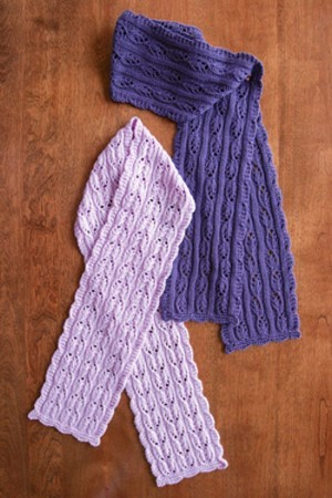 Fiber Trends Fuchsia Lace Scarves