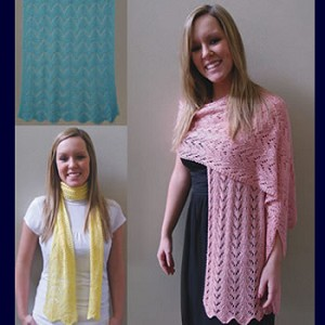 Fiber Trends Easy Lace Scarves and Wraps