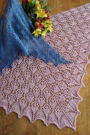 Fiber Trends Flower Basket Lace Shawl & Scarf
