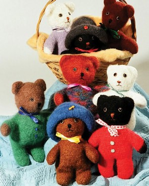 Fiber Trends Felt Baby Bears with Hats