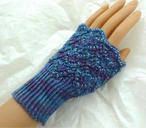 HeartStrings Beaded Offset Chevrons Hand Warmers and Socks