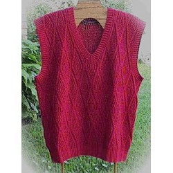 HeartStrings Ribbed Diamonds Man's Vest