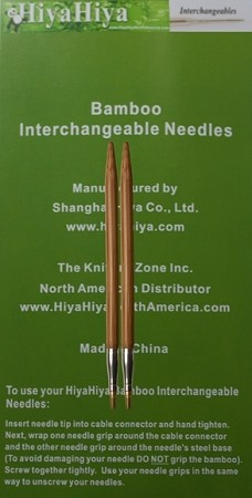 HiyaHiya Bamboo Interchangeable Knitting Needle Tips