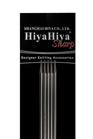 "HiyaHiya 6"" SHARP Stainless Steel Double Point Knitting Needles"