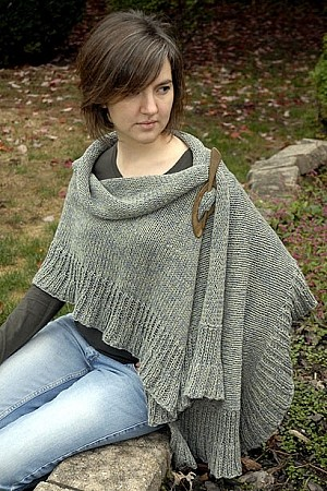 Kate Jackson Knits May Ruffle Wrap