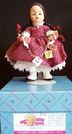 "8"" Madame Alexander Doll Annabelle at Christmas"