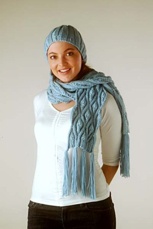 Naturally Lace Hat & Two Scarves N1007