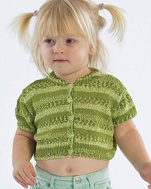 Naturally Children's Cropped Cardigan Top