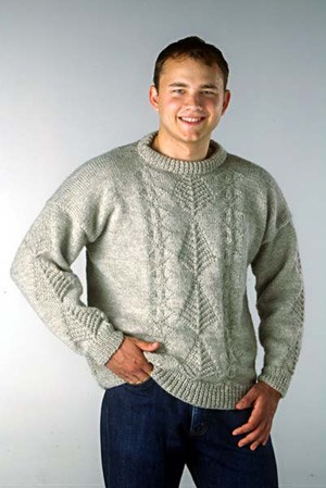 Naturally Sweater With Textured Panel