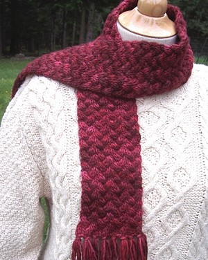 Big Sky Knitting Designs Kettle-Dyed Neck Scarf