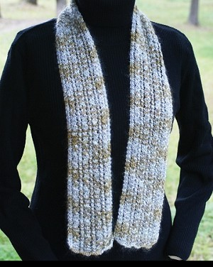 Big Sky Knitting Designs Silver Threads Scarf
