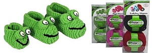 PolarKnit Froggy Slippers Kit