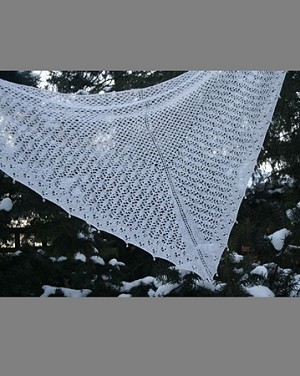 Queen Ann's Lace Poetic Shawls - Snowy Evening